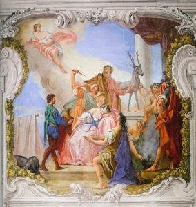 Angeli-Giuseppe-Sacrifice-of-Iphigenia-1760-fresco-Villa-Widmann-Mira