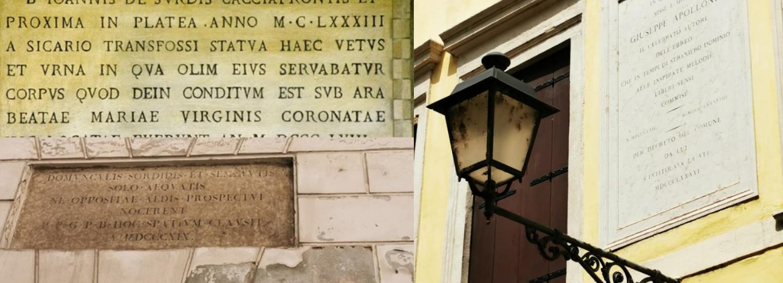Lapidi e muri parlanti, parte II – Altri muri raccontano