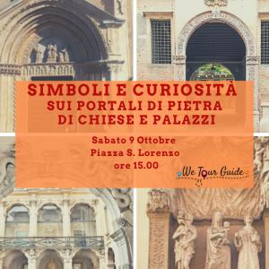 Simboli e curiosità sui portali di pietra di chiese e palazzi di Vicenza